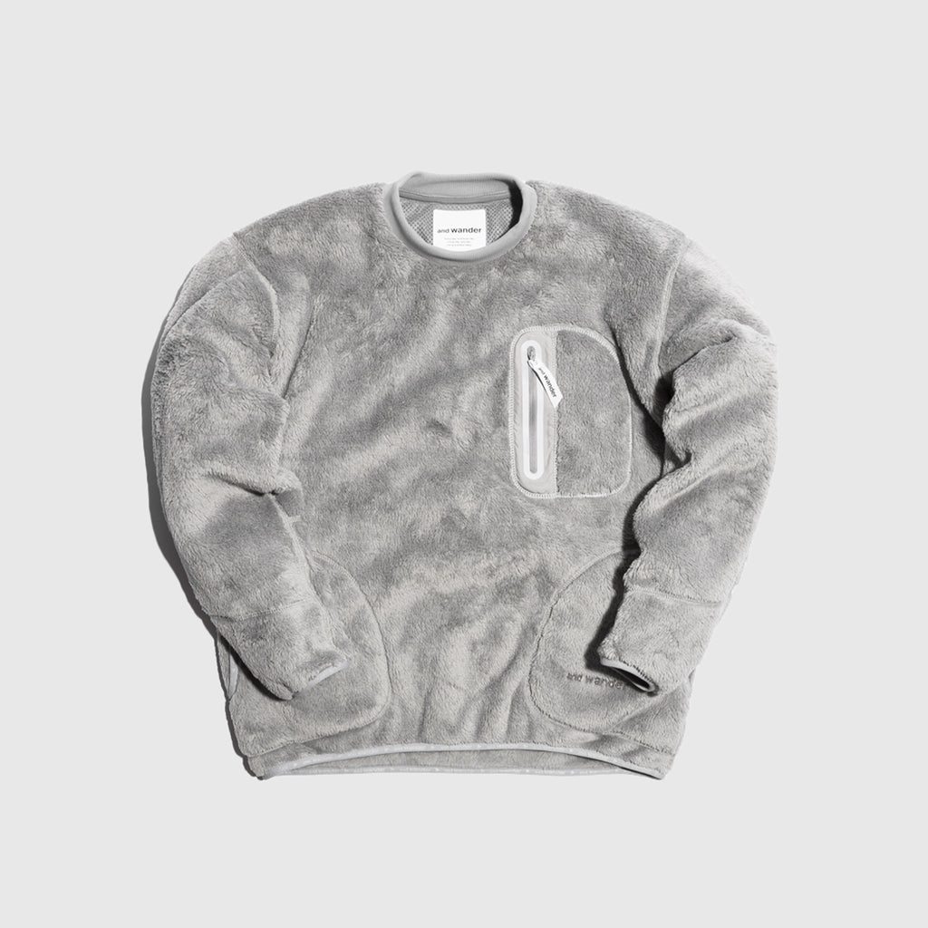 AND WANDER HIGH LOFT FLEECE PULLOVER