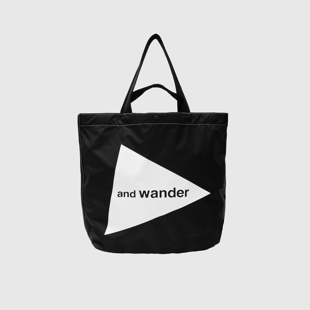 AND WANDER LARGE CORDURA LOGO TOTE BAG