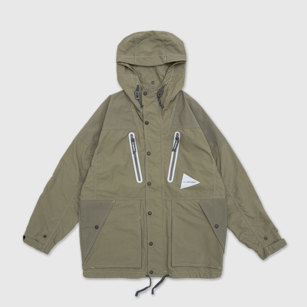 AND WANDER PERTEX NYLON RIP JACKET