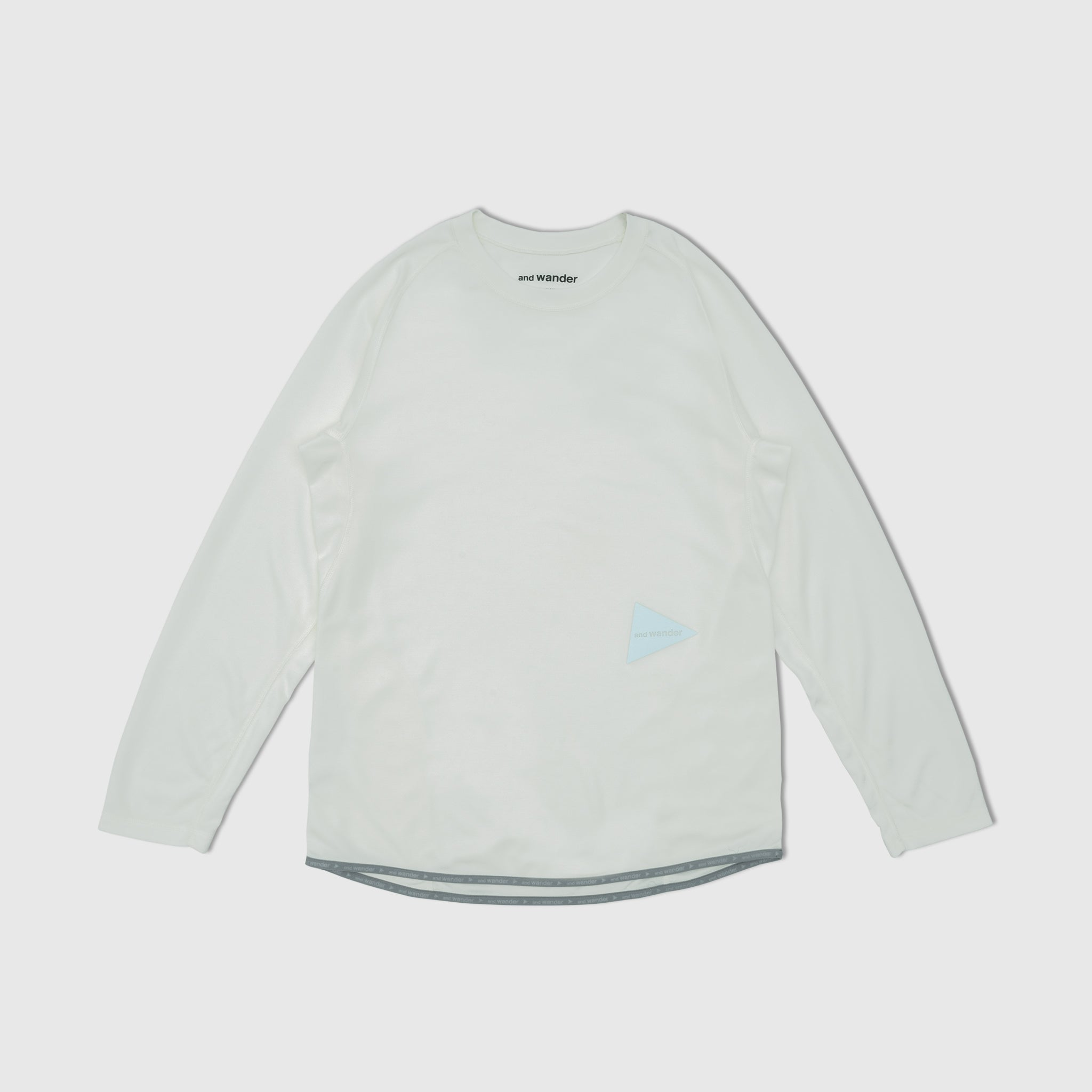 AND WANDER POWER DRY JERSEY RAGLAN L/S T-SHIRT