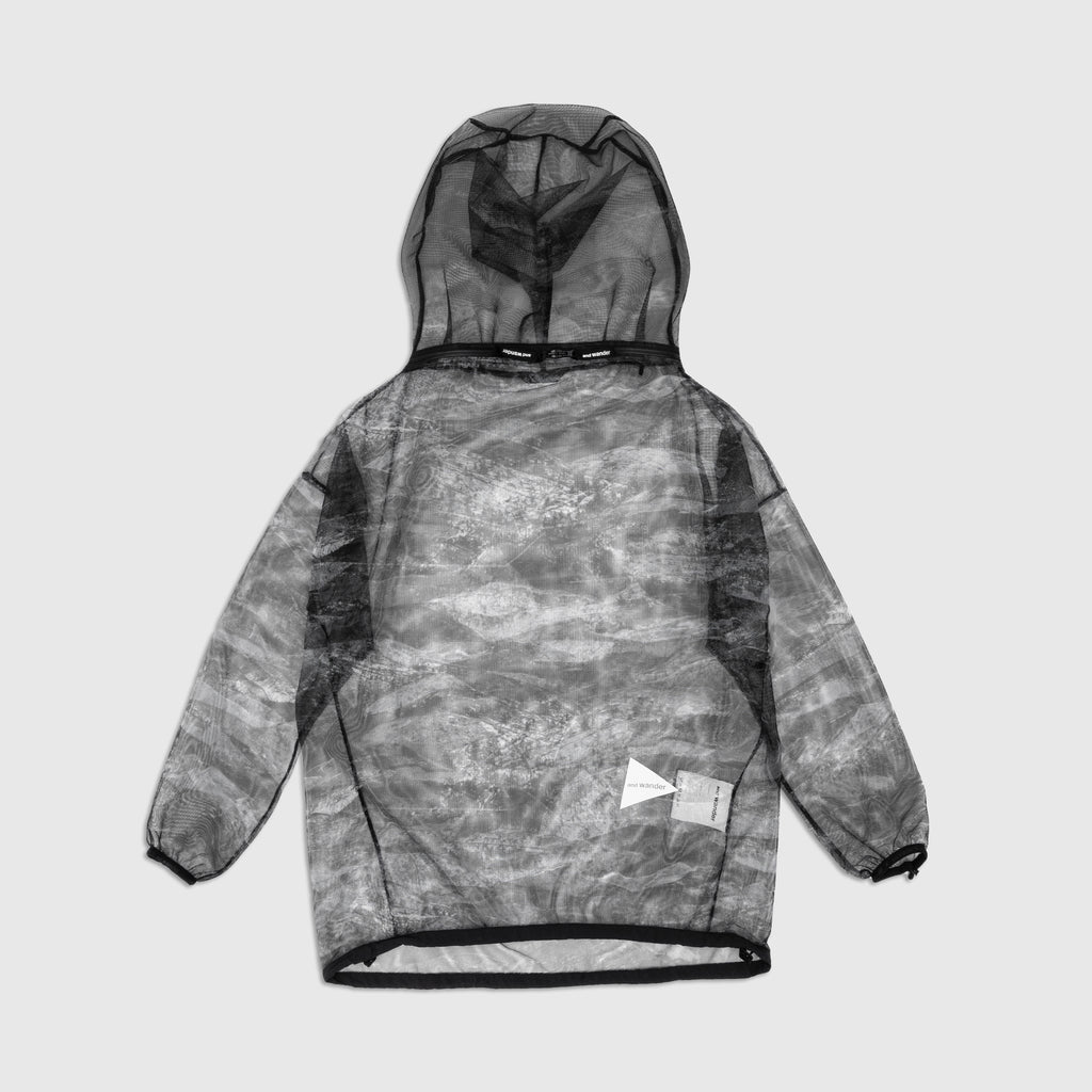 AND WANDER PRINTED MESH HOODY