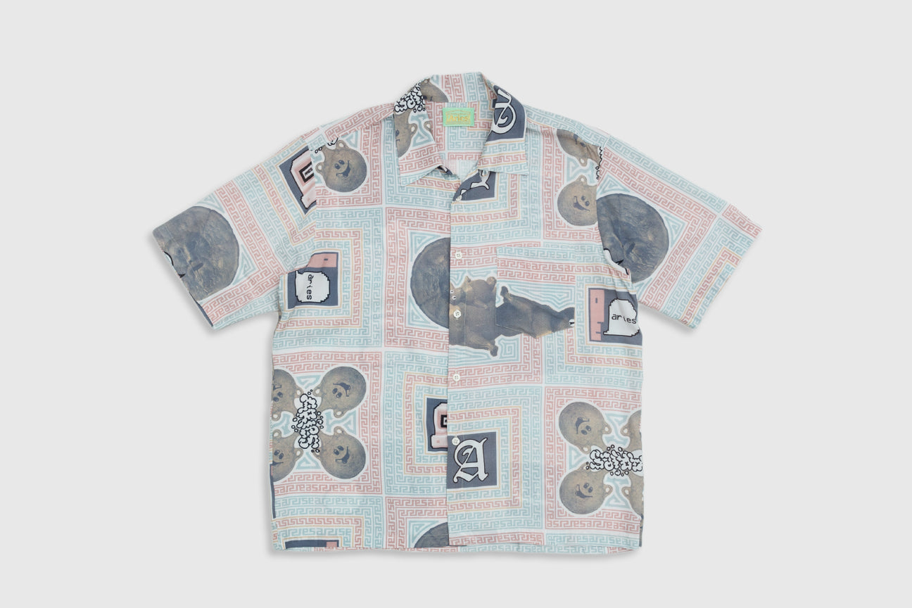 ARIES SCARF PRINT HAWAIIAN S/S SHIRT