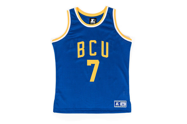 "PACKER X ACTION BRONSON X STARTER ""BCU"" AWAY AUTHENTIC JERSEY - BLUE"