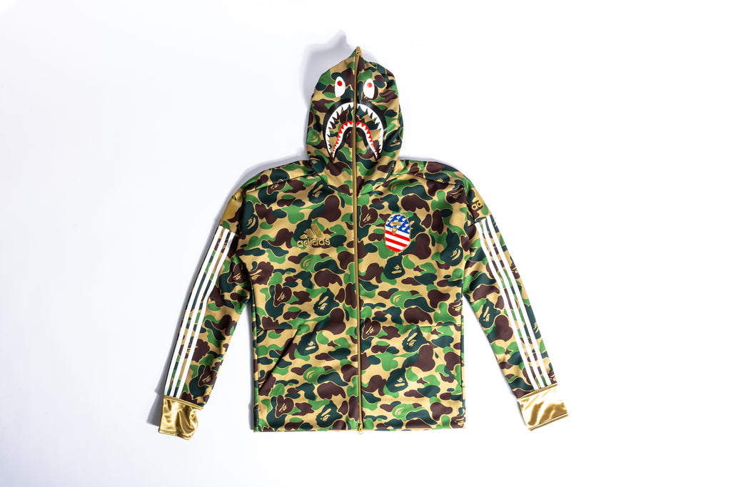 "ADIDAS X BAPE SHARK HOODIE ""SUPERBOWL COLLECTION"""