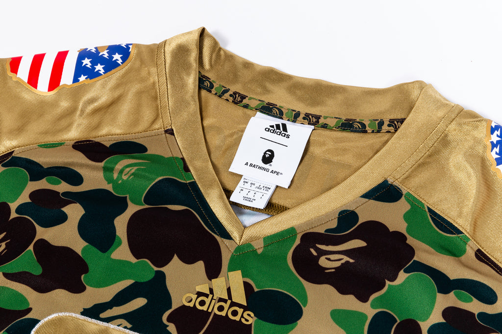 "ADIDAS X BAPE FOOTBALL JERSEY ""SUPERBOWL COLLECTION"""