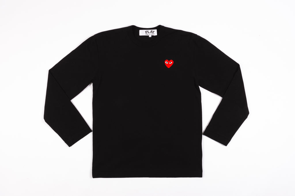 CDG PLAY RED HEART L/S T-SHIRT