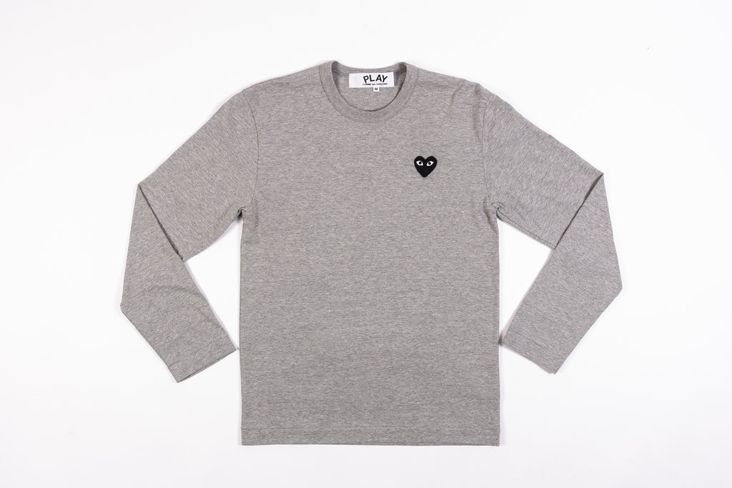 CDG PLAY BLACK HEART L/S T-SHIRT