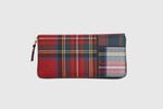 CDG WALLET TARTAN PATCHWORK LARGE WALLET
