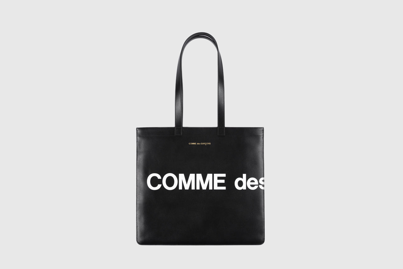 CDG WALLET HUGE LOGO TOTE BAG