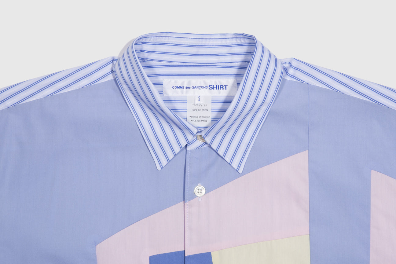 CDG SHIRT STRIPED COLLAR S/S SHIRT
