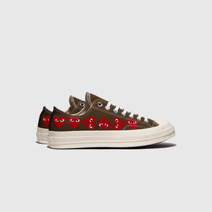 "CDG PLAY CONVERSE CHUCK TAYLOR ALL-STAR '70 OX ""MULTI HEART"""