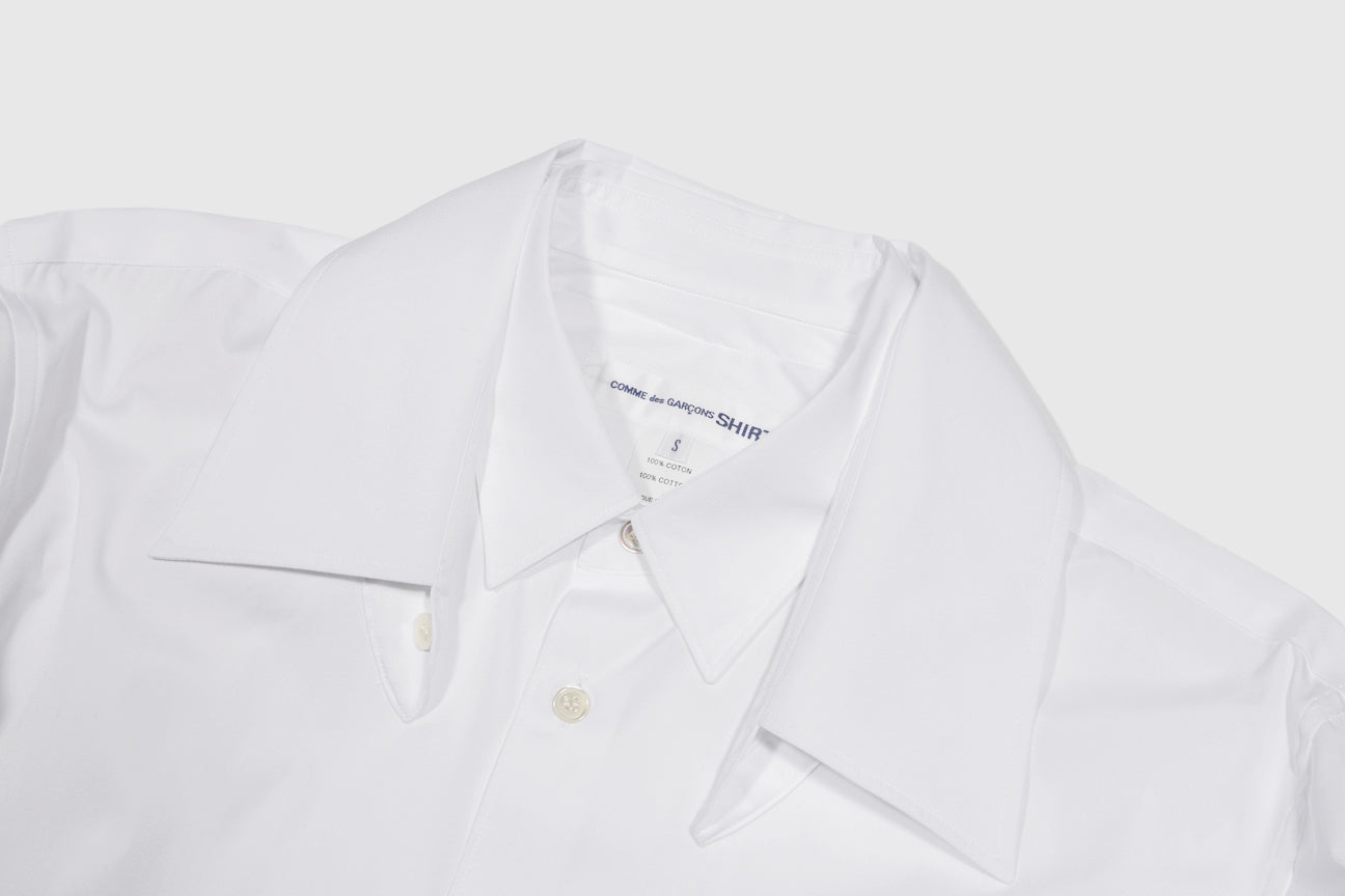 CDG SHIRT DOUBLE COLLAR SHIRT