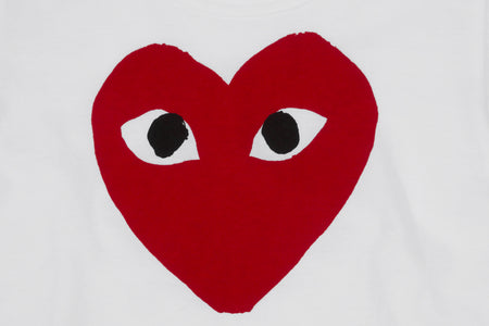 CDG PLAY KIDS BIG HEART S/S T-SHIRT