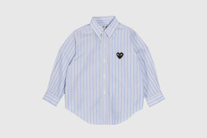 CDG PLAY KIDS STRIPED L/S BUTTON DOWN