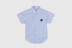 CDG PLAY KIDS STRIPED S/S SHIRT