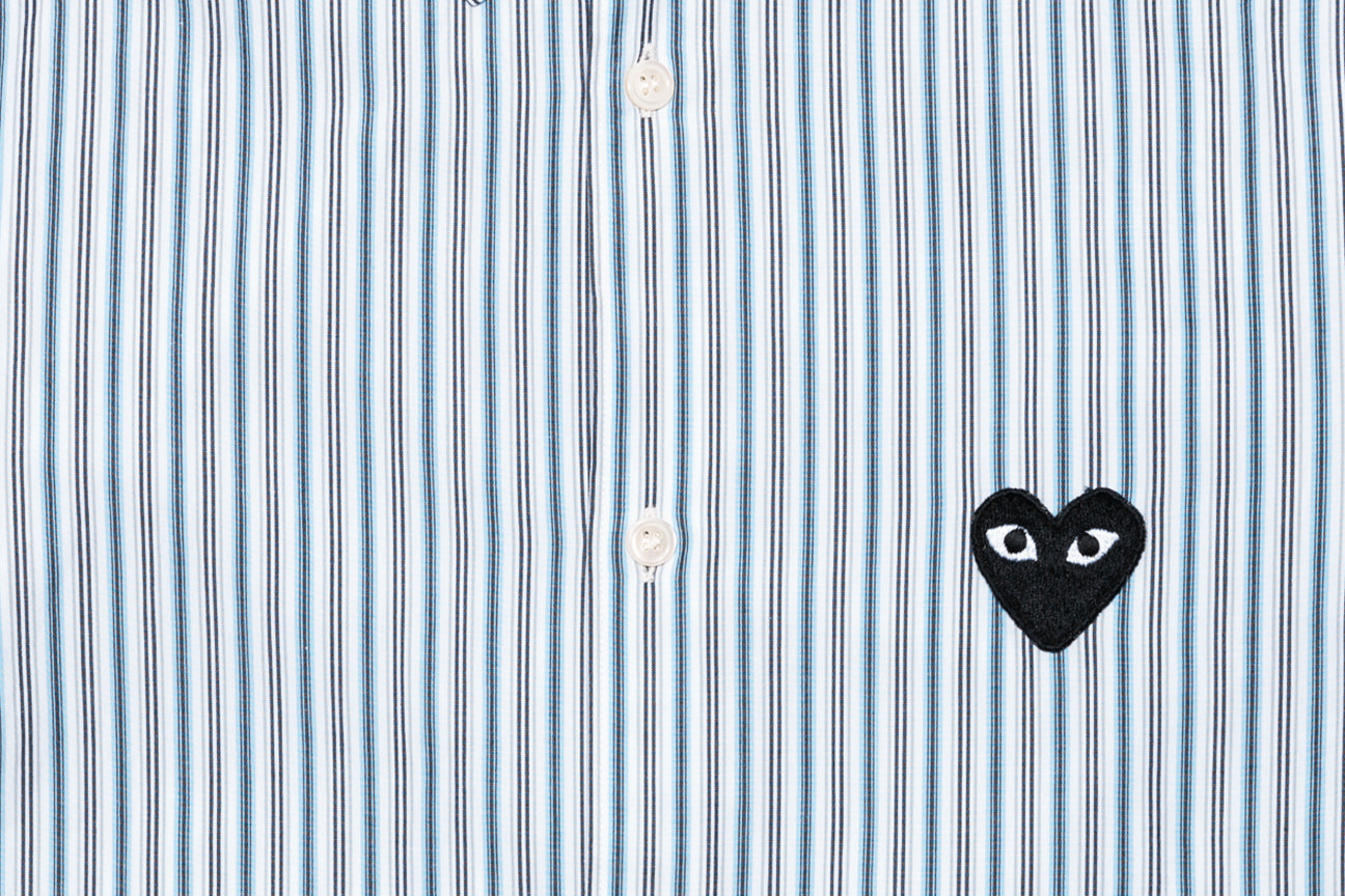 CDG PLAY STRIPED L/S SHIRT