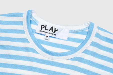CDG PLAY STRIPED L/S T-SHIRT
