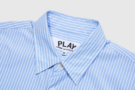 CDG PLAY STRIPED S/S SHIRT