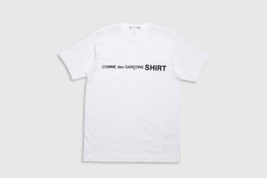 CDG SHIRT BLACK LOGO S/S T-SHIRT