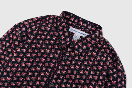CDG SHIRT FLORAL PRINT COTTON SHIRT