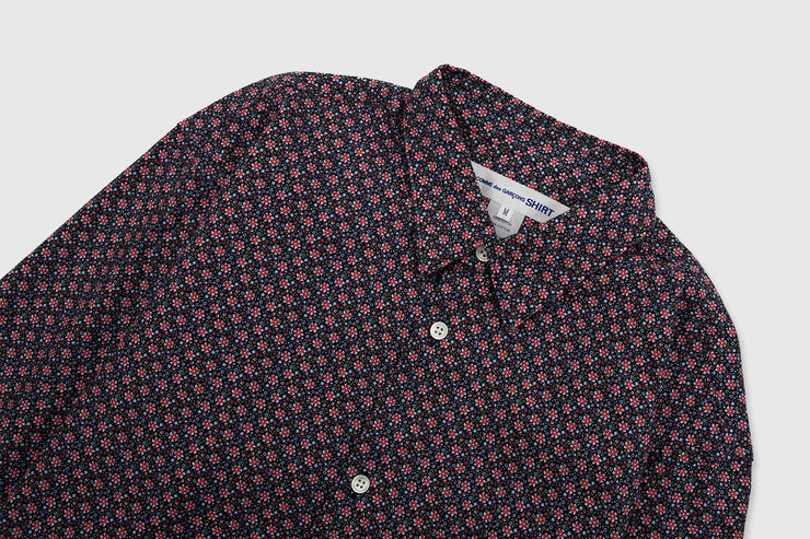 CDG SHIRT FLORAL PRINT COTTON SHIRT (B)
