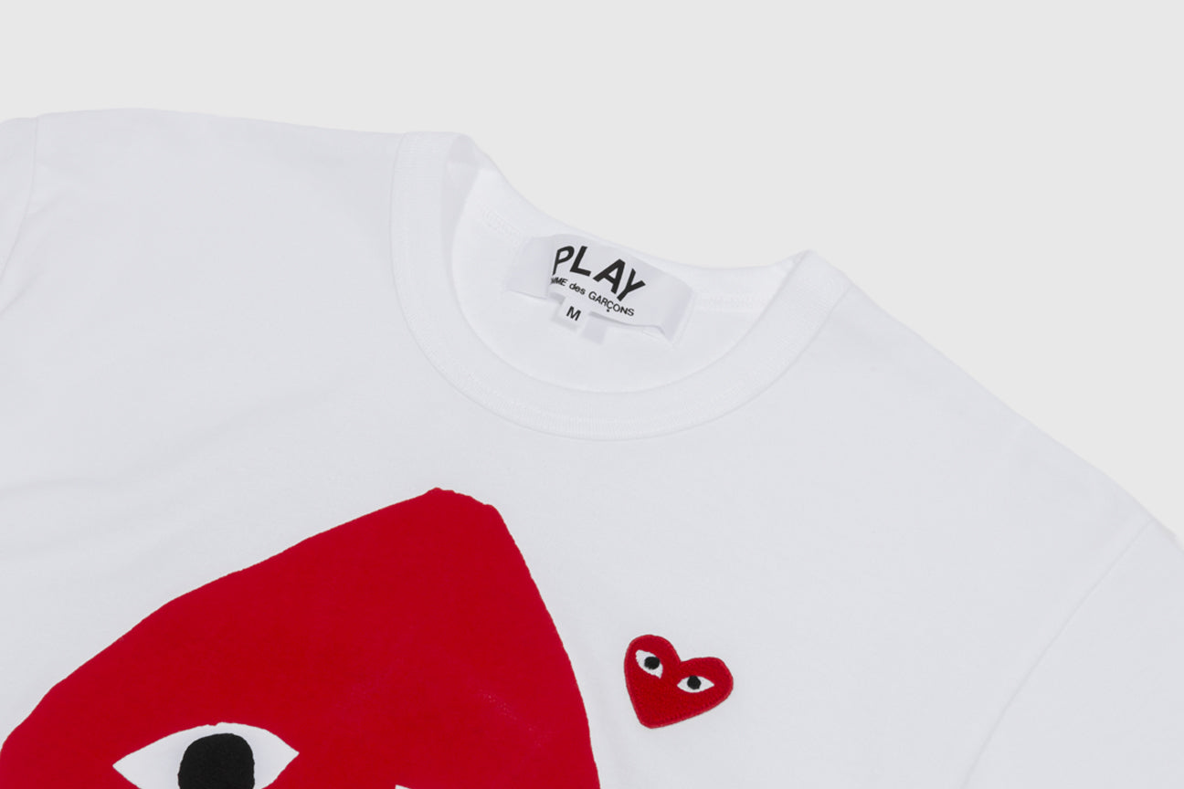 CDG PLAY CAMO HEART & RED HEART S/S T-SHIRT