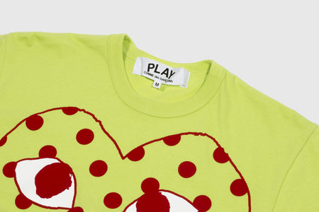 CDG PLAY POLKA DOT HEART S/S T-SHIRT