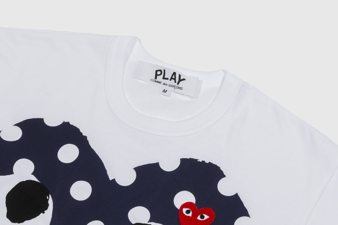 CDG PLAY POLKA DOT BIG HEART S/S T-SHIRT