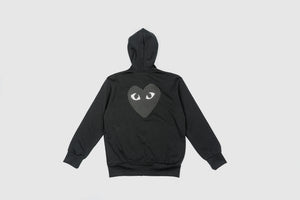 CDG PLAY FULL ZIP HOODY