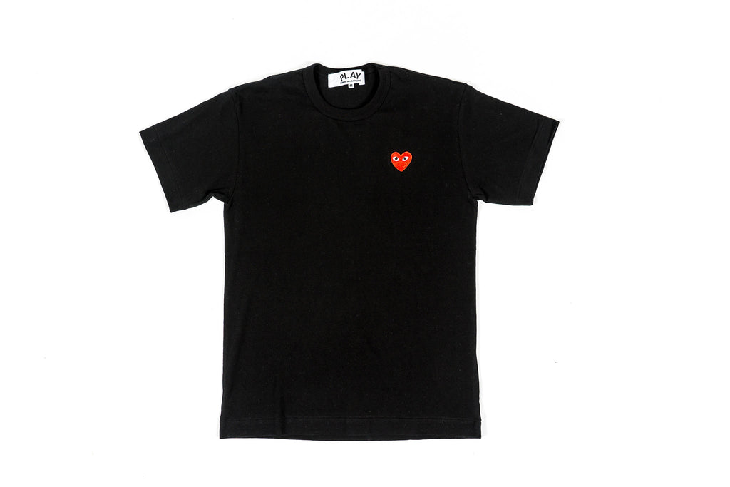 CDG PLAY T-SHIRT - BLACK