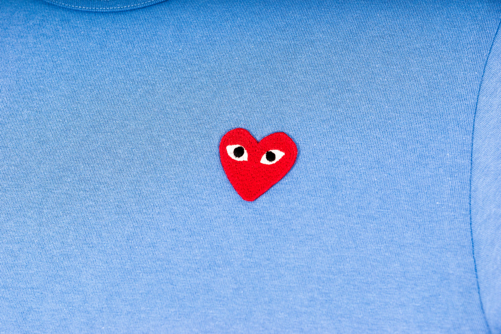 CDG PLAY T-SHIRT - BLUE