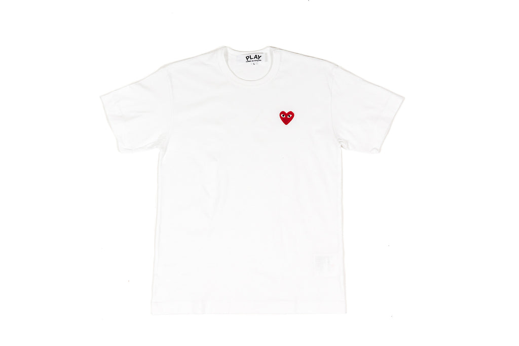 CDG PLAY T-SHIRT - WHITE