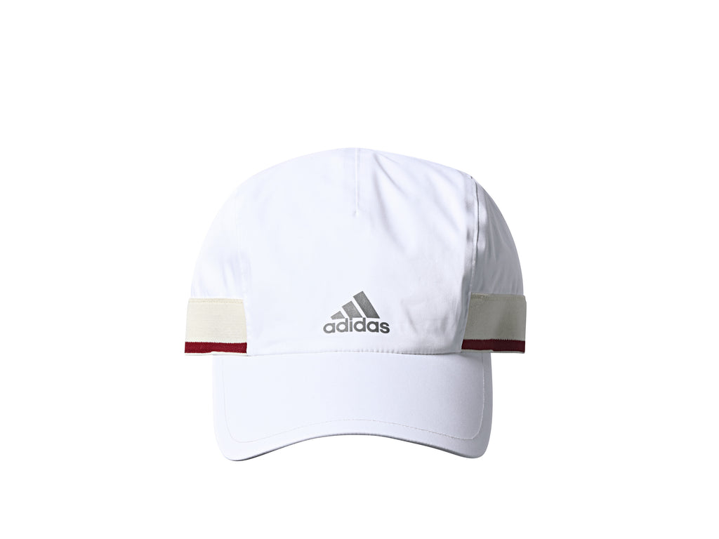 "ADIDAS ""RUN THRU TIME"" CAP - WHITE/SCARLET/BLUE"