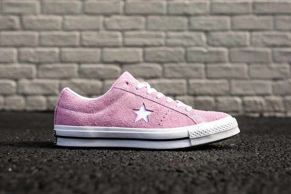 CONVERSE ONE STAR PREMIUM SUEDE LOW TOP - LIGHT ORCHID