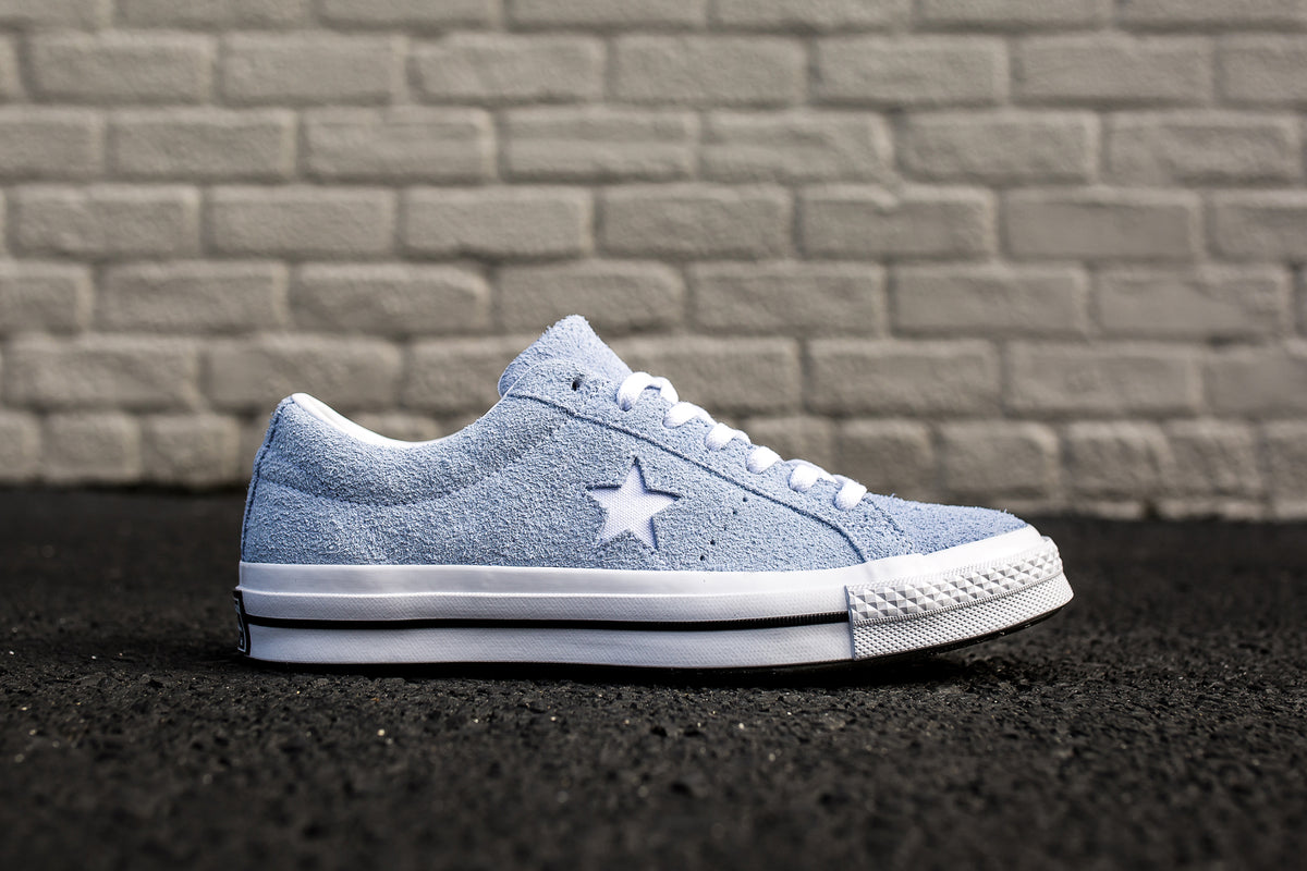 59ec076d01a CONVERSE ONE STAR PREMIUM SUEDE LOW TOP - BLUE CHILL