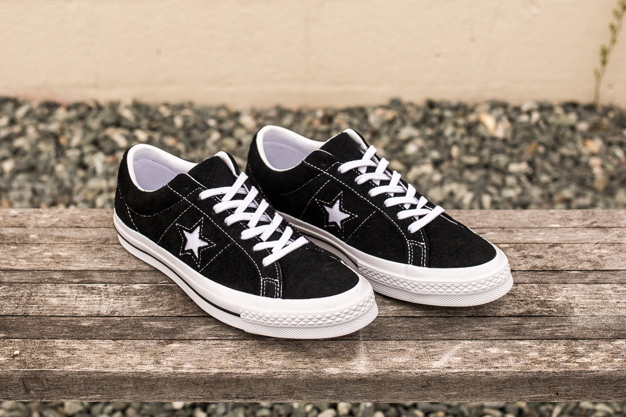 6e9f76a64dfd CONVERSE ONE STAR SUEDE LOW TOP - BLACK – PACKER SHOES