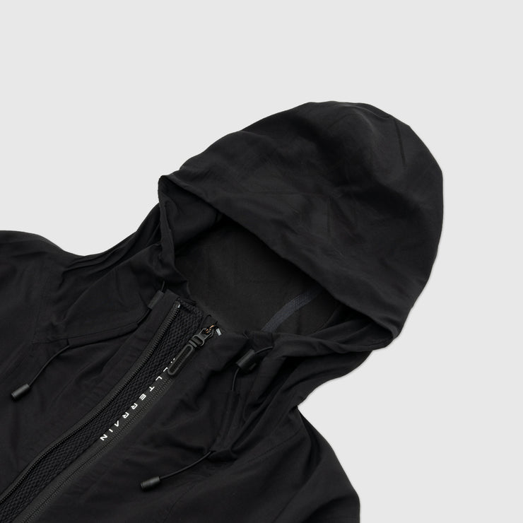 DESCENTE SCHEMATECH SHIELD JACQUARD HOODED JACKET