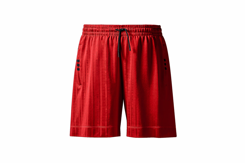 ADIDAS ORIGINALS BY ALEXANDER WANG SOCCER SHORT - SOLAR RED