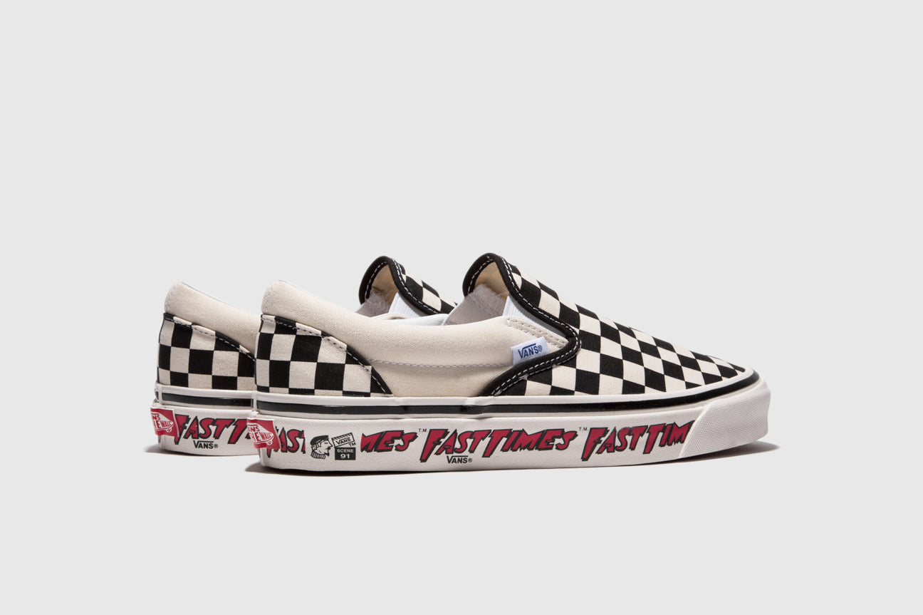 "VANS CLASSIC SLIP-ON 98 DX ""FAST TIMES"""