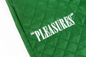 PLEASURES RODMAN QUILTED SATIN PANTS