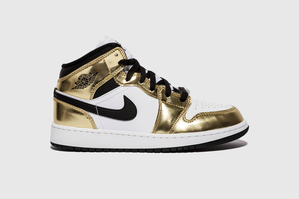 "AIR JORDAN 1 MID (GS) ""METALLIC GOLD"""