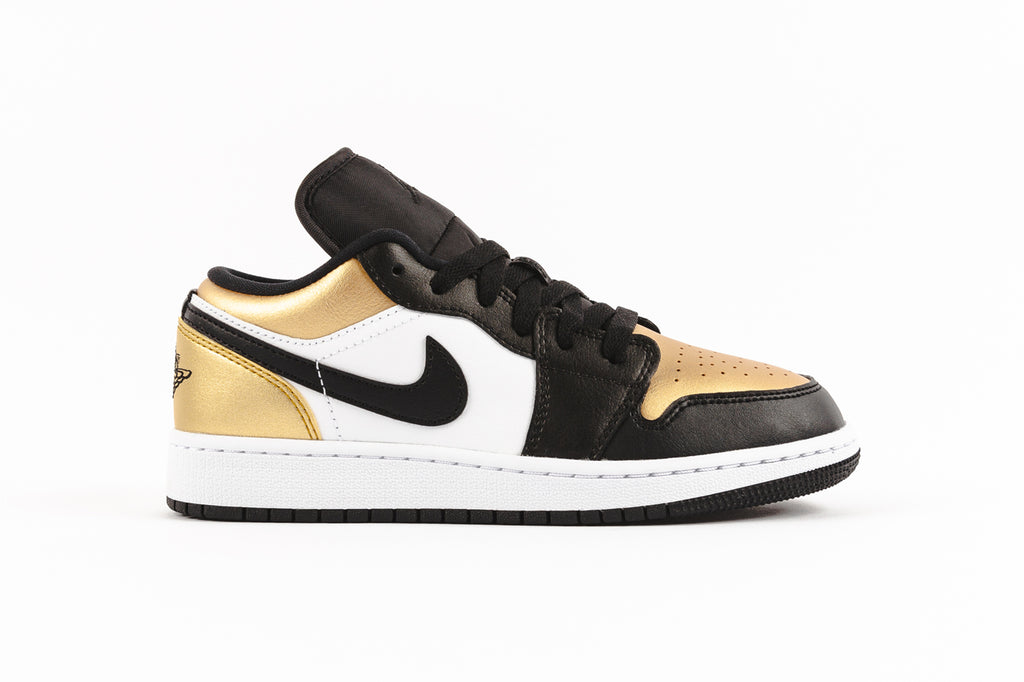 "AIR JORDAN 1 LOW (GS) ""GOLD TOE"""