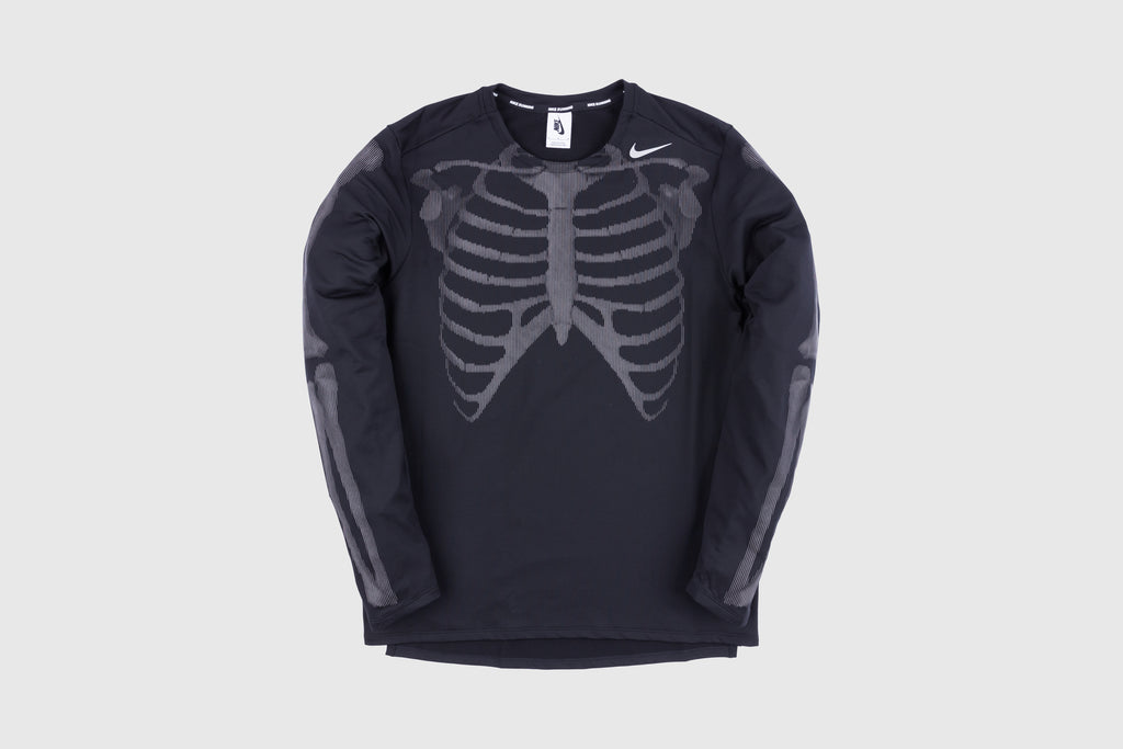 "NIKE MEN'S NRG SKELETON L/S T-SHIRT ""BLACK"""