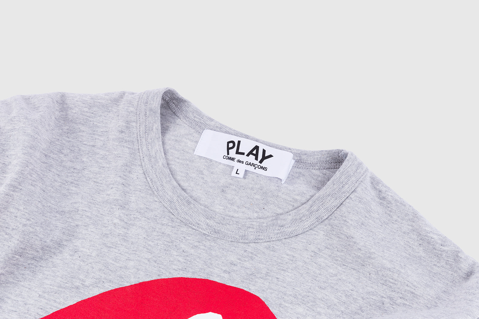 CDG PLAY SIDEWAYS HEART L/S T-SHIRT