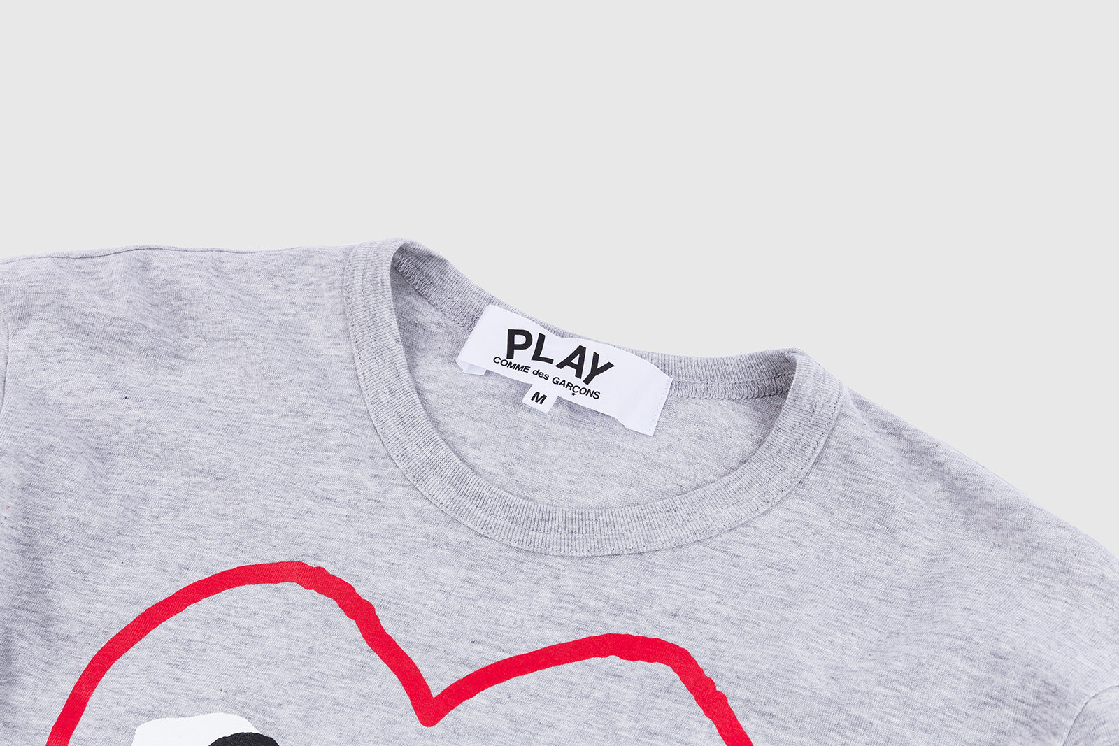 CDG PLAY GREY BORDER L/S T-SHIRT