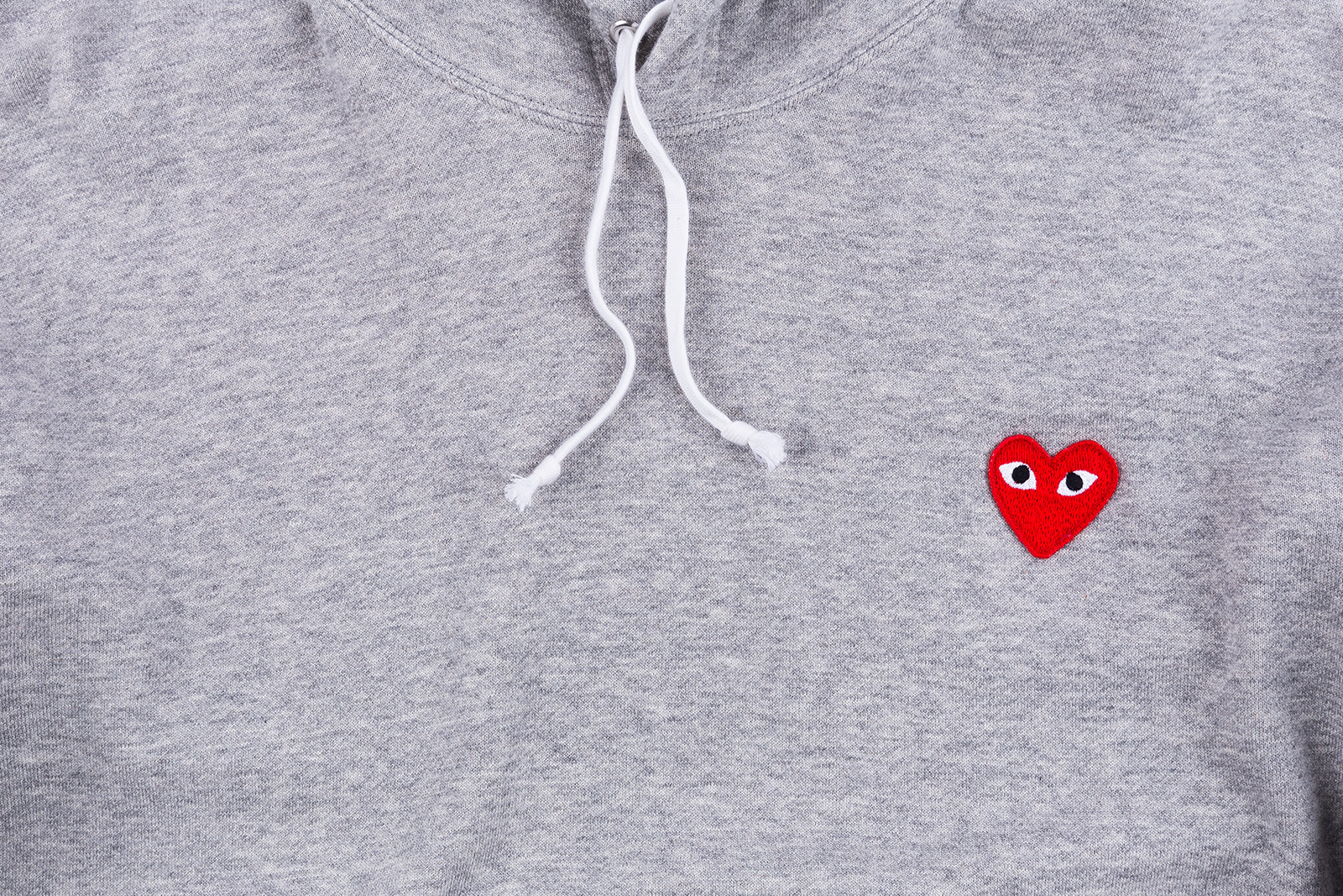CDG PLAY HOODED SWEATSHIRT