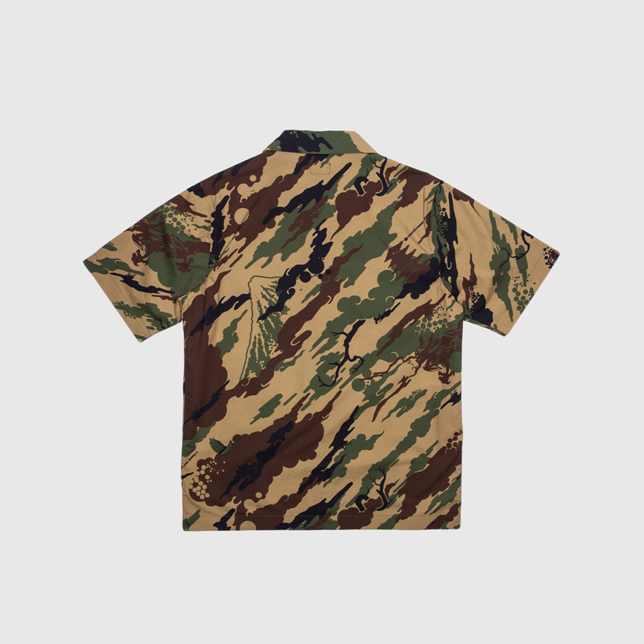 MAHARISHI CAMO CAMP COLLAR SHIRT