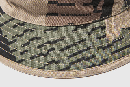 MAHARISHI CAMO REVERSIBLE BUCKET HAT