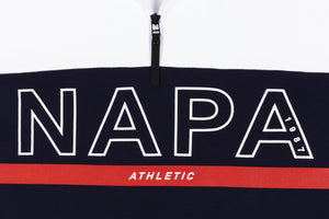 NAPA BY MARTINE ROSE B-ANZERE 1/4 ZIP PULLOVER SWEATSHIRT