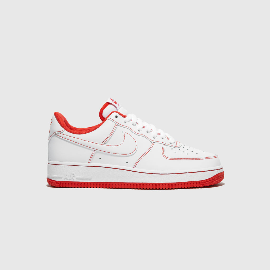 "NIKE AIR FORCE 1 '07 1 ""UNIVERSITY RED STITCHING"""